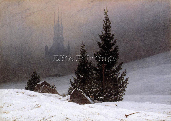 CASPAR DAVID FRIEDRICH WINTER LANDSCAPE 1811 1 ARTIST PAINTING REPRODUCTION OIL