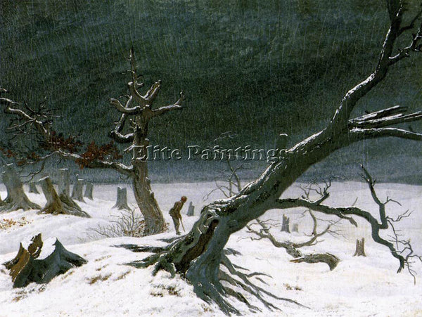 CASPAR DAVID FRIEDRICH WINTER LANDSCAPE 1811 2 ARTIST PAINTING REPRODUCTION OIL