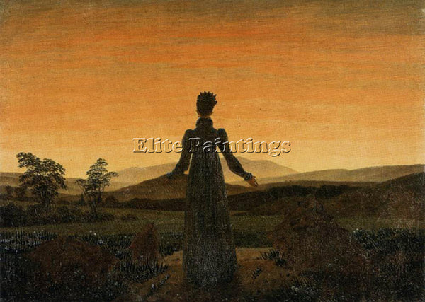 CASPAR DAVID FRIEDRICH WOMAN BEFORE THE RISING SUN ARTIST PAINTING REPRODUCTION