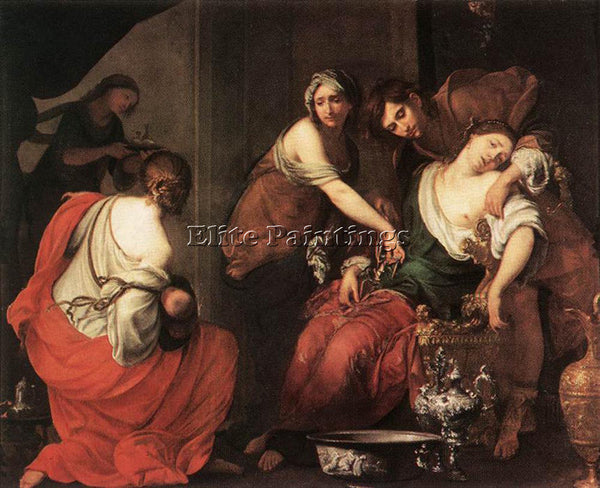 FRANCESCO FURINI THE BIRTH OF RACHEL ARTIST PAINTING REPRODUCTION HANDMADE OIL