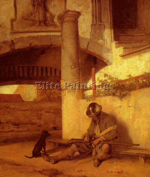 CARE FABRITIUS THE SENTRY ARTIST PAINTING REPRODUCTION HANDMADE OIL CANVAS REPRO