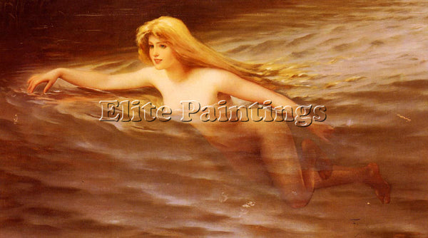 LUIS RICARDO FALERO NYMPHE ARTIST PAINTING REPRODUCTION HANDMADE OIL CANVAS DECO