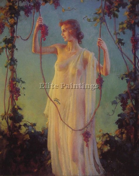 CHARLES COURTNEY CURRAN FALL SUNSHINE ARTIST PAINTING REPRODUCTION HANDMADE OIL