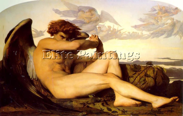 ALEXANDRE CABANEL FALLEN ANGEL ARTIST PAINTING REPRODUCTION HANDMADE OIL CANVAS