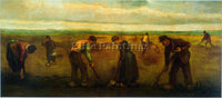VAN GOGH FARMERS ARTIST PAINTING REPRODUCTION HANDMADE OIL CANVAS REPRO WALL ART