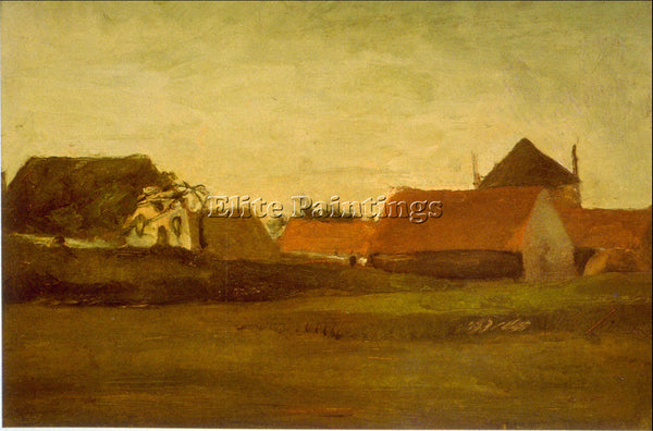 VAN GOGH FARMHOUSES ARTIST PAINTING REPRODUCTION HANDMADE CANVAS REPRO WALL DECO