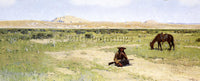 HENRY FARNY A REST IN THE DESERT ARTIST PAINTING REPRODUCTION HANDMADE OIL REPRO