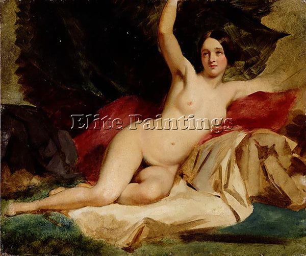 WILLIAM ETTY FEMALE NUDE IN A LANDSCAPE ARTIST PAINTING REPRODUCTION HANDMADE
