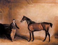 JOHN FERNELEY E MR C N HOGGS CLAXTON AND A GROOM IN A STABLE ARTIST PAINTING OIL