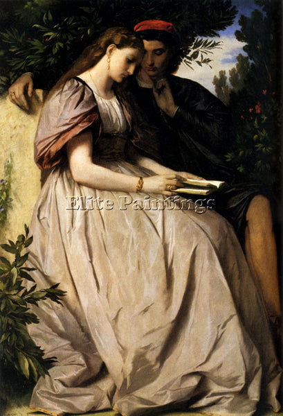 ANSELM FRIEDRICH FEUERBACH PAOLO AND FRANCESCA ARTIST PAINTING REPRODUCTION OIL