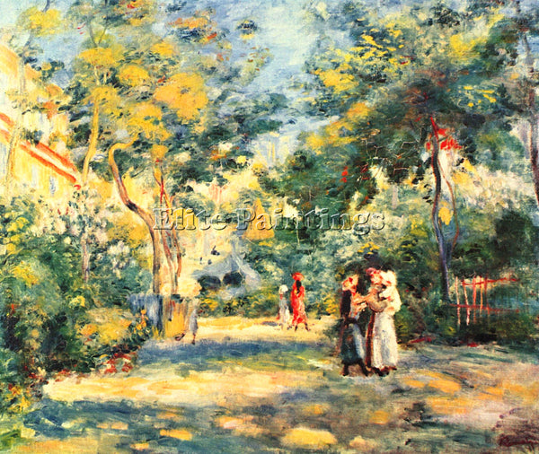 RENOIR FIGURES IN THE GARDEN ARTIST PAINTING REPRODUCTION HANDMADE CANVAS REPRO