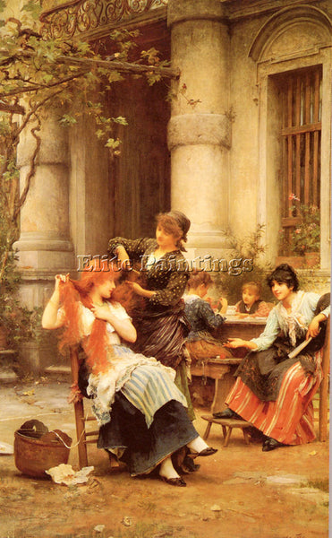 LUKE FILDES  ALFRESCO ARTIST PAINTING REPRODUCTION HANDMADE OIL CANVAS REPRO ART