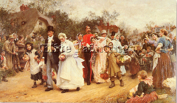 LUKE FILDES  THE WEDDING ARTIST PAINTING REPRODUCTION HANDMADE CANVAS REPRO WALL