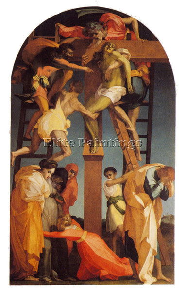 ROSSO FIORENTINO  DEPOSITION ARTIST PAINTING REPRODUCTION HANDMADE CANVAS REPRO