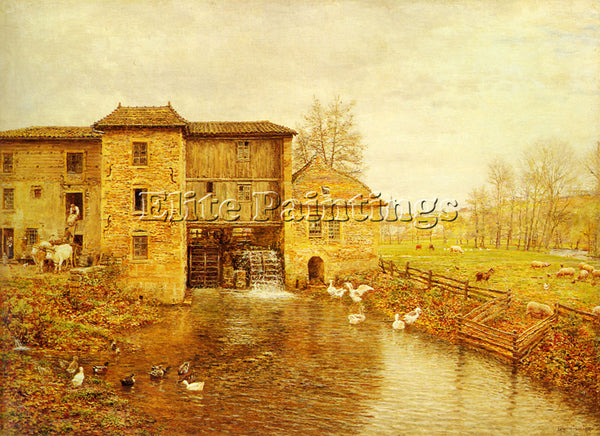 FRENCH FIRMIN GIRARD MARIE FRANCOIS LE MOULIN DE GATELLIER ARTIST PAINTING REPRO