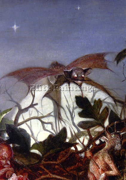 JOHN ANSTER FITZGERALD FAIRIES IN A BIRDS NEST DETAIL 3 ARTIST PAINTING HANDMADE