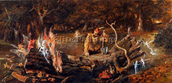 JOHN ANSTER FITZGERALD THE WOODCUTTERS MISFORTUNE ARTIST PAINTING REPRODUCTION