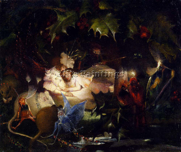 JOHN ANSTER FITZGERALD FITZGERALD JON ANSTER THE FAIRY BOWER ARTIST PAINTING OIL
