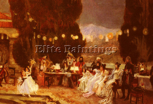FRANCOIS FLAMENG  AN EVENING S ENTERTAINMENT FOR JOSEPHINE ARTIST PAINTING REPRO