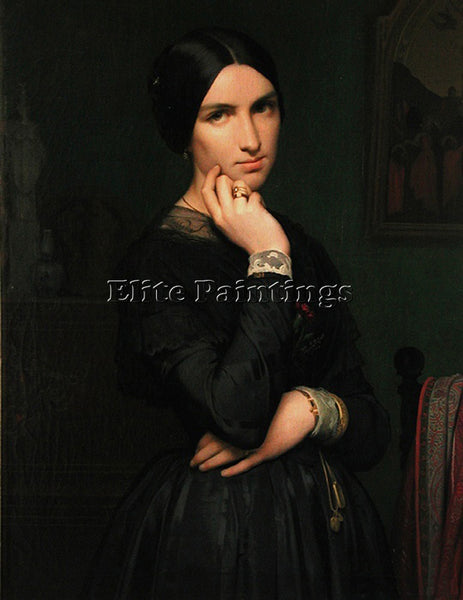 JEAN HIPPOLYTE FLANDRIN MADAME HIPPOLYTE FLANDRIN ARTIST PAINTING REPRODUCTION