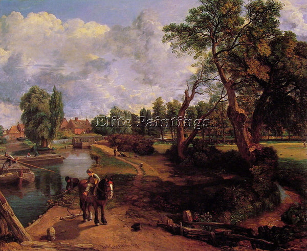JOHN CONSTABLE FLATFORD MILL CR ARTIST PAINTING REPRODUCTION HANDMADE OIL CANVAS
