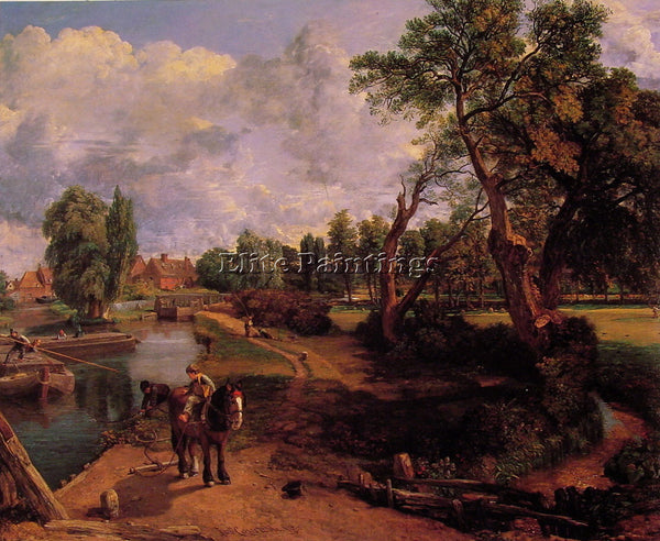 JOHN CONSTABLE FLATFORD MILL ARTIST PAINTING REPRODUCTION HANDMADE CANVAS REPRO