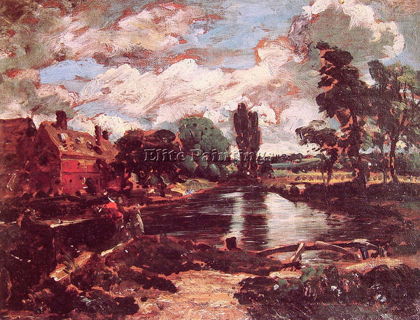 JOHN CONSTABLE FLATFORD MILL FROM THE LOCK ARTIST PAINTING REPRODUCTION HANDMADE
