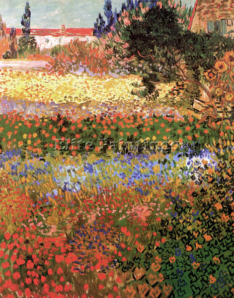 VAN GOGH FLOWERING GARDEN ARTIST PAINTING REPRODUCTION HANDMADE OIL CANVAS REPRO