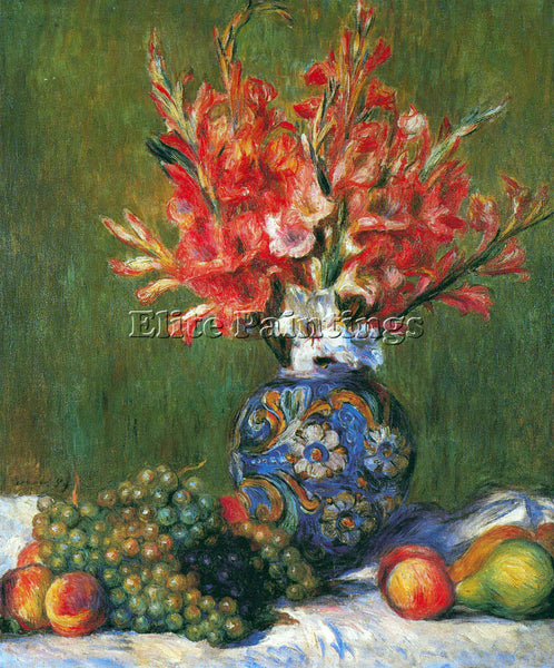 RENOIR FLOWERS AND FRUIT ARTIST PAINTING REPRODUCTION HANDMADE CANVAS REPRO WALL
