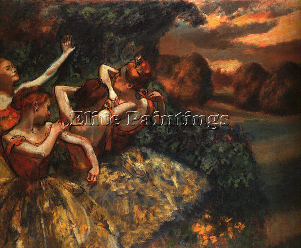 EDGAR DEGAS FOUR DANCERS ARTIST PAINTING REPRODUCTION HANDMADE CANVAS REPRO WALL