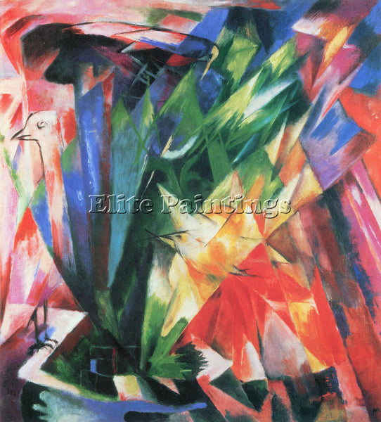 FRANZ MARC FOWL ARTIST PAINTING REPRODUCTION HANDMADE CANVAS REPRO WALL  DECO