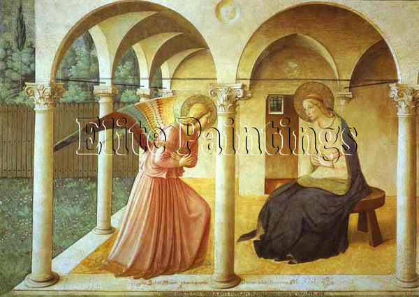 FRA ANGELICO ANNUNCIATION ARTIST PAINTING REPRODUCTION HANDMADE OIL CANVAS REPRO