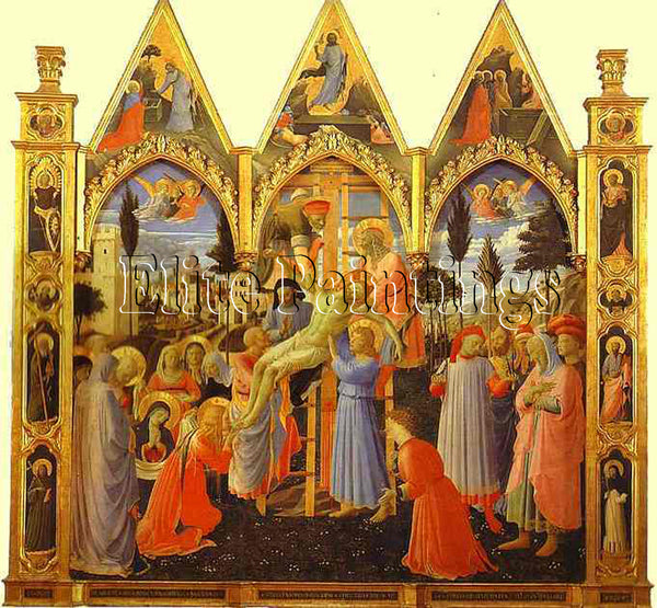 FRA ANGELICO THE DEPOSITION ARTIST PAINTING REPRODUCTION HANDMADE OIL CANVAS ART