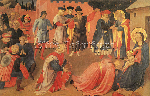 FRA ANGELICO FRA1 ARTIST PAINTING REPRODUCTION HANDMADE CANVAS REPRO WALL DECO