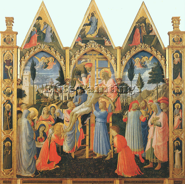 FRA ANGELICO FRA23 ARTIST PAINTING REPRODUCTION HANDMADE CANVAS REPRO WALL DECO