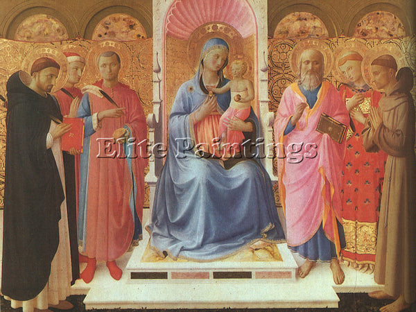 FRA ANGELICO FRA24 ARTIST PAINTING REPRODUCTION HANDMADE CANVAS REPRO WALL DECO
