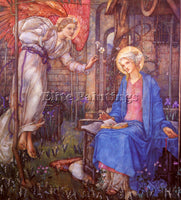 AMERICAN FRAMPTON EDWARD REGINALD THE ANNUNCIATION ARTIST PAINTING REPRODUCTION