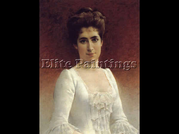 FINLAND FRANCES HODGSON BURNETT PORTRAIT YOUNG LADY IN WHITE DRESS REPRODUCTION