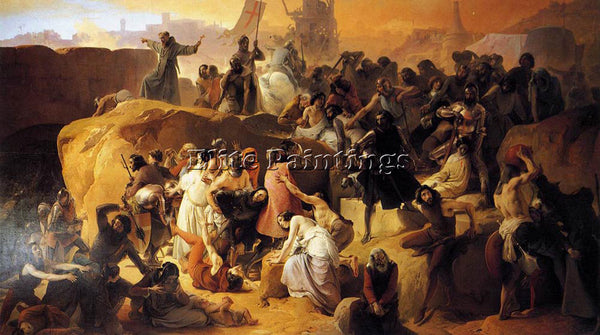 FRANCESCO HAYEZ CRUSADERS THIRSTING NEAR JERUSALEM ARTIST PAINTING REPRODUCTION