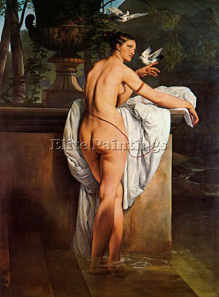 FRANCESCO HAYEZ CARLOTTA CHABERT COME VENERE 1830 ARTIST PAINTING REPRODUCTION