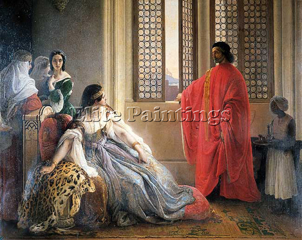 FRANCESCO HAYEZ CATERINA CORNARO DEPOSED FROM THE THRONE OF CYPRUS REPRODUCTION