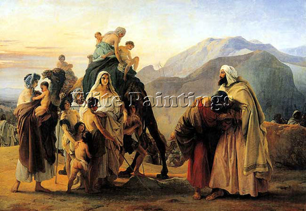 FRANCESCO HAYEZ JACOB AND ESAU ARTIST PAINTING REPRODUCTION HANDMADE OIL CANVAS