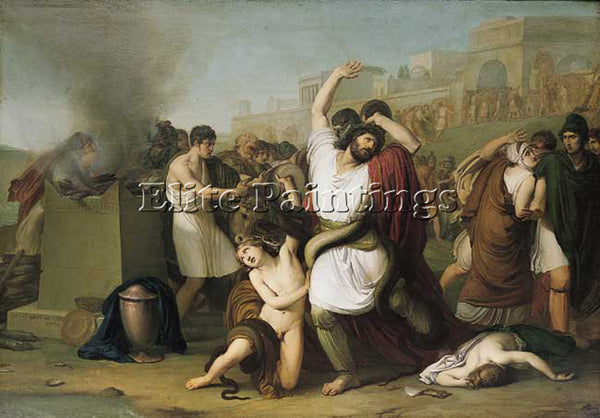 FRANCESCO HAYEZ LAOCOON ARTIST PAINTING REPRODUCTION HANDMADE CANVAS REPRO WALL
