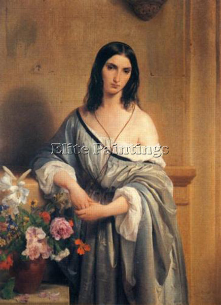 FRANCESCO HAYEZ MALINCONIA ARTIST PAINTING REPRODUCTION HANDMADE OIL CANVAS DECO