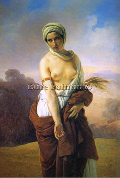 FRANCESCO HAYEZ RUTH 1835 ARTIST PAINTING REPRODUCTION HANDMADE OIL CANVAS REPRO