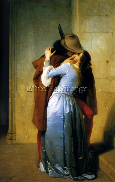 FRANCESCO HAYEZ THE KISS ARTIST PAINTING REPRODUCTION HANDMADE CANVAS REPRO WALL