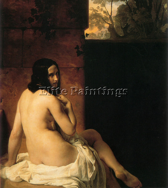 FRANCESCO HAYEZ SUSANNA AL BAGNO ARTIST PAINTING REPRODUCTION HANDMADE OIL REPRO