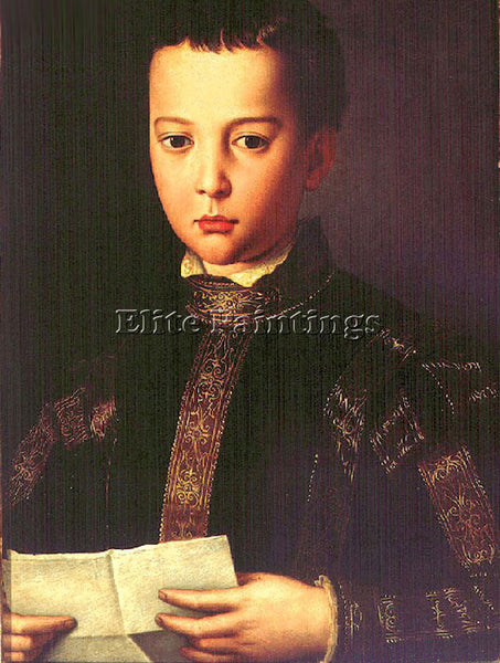 AGNOLO BRONZINO FRANCESCO DE MEDICI ARTIST PAINTING REPRODUCTION HANDMADE OIL