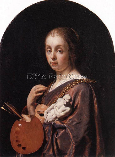 FRANS VAN MIERIS PICTURA AN ALLEGORY OF PAINTING ARTIST PAINTING HANDMADE CANVAS