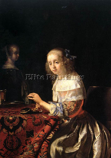 FRANS VAN MIERIS THE LACEMAKER ARTIST PAINTING REPRODUCTION HANDMADE OIL CANVAS